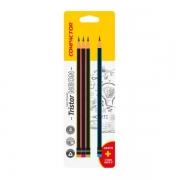 Lápis Tristar Neon com Borracha HB N°2 com 4 unidades - Compactor