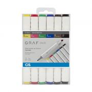 Marcador Artístico Graf Duo 6 Cores - Cis