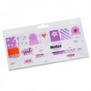 Marcadores Smart Notes Markers Lilás 7 Unid. Com 20 Folhas Cada BRW