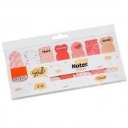 Marcadores Smart Notes Markers Salmão 7 Unid. Com 20 Folhas Cada BRW