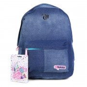 Mochila Capricho Jeans Com Patches - Be Yourself DWM