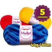 Pacote Lã Mollet 40g com 5 unidades
