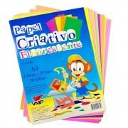 Bloco de Papel Criativo Fluorescente com 50 folhas em 5 cores - VMP