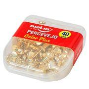 Percevejo Molin Color Plus Ouro cx c/40 Unid