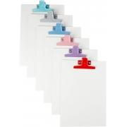 Prancheta MDF Branco A4 c/ Prendedor de Metal Colorido - Acrimet