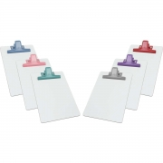 Prancheta MDF Branco A5 c/ Prendedor de Metal Colorido - Acrimet