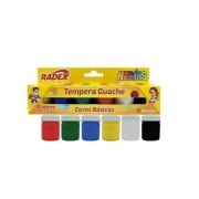 Tempera Guache 6 Cores Básicas com 15ml Cada - Radex