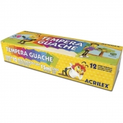 Tempera Guache com 12 Unidades 15ml cada - Acrilex