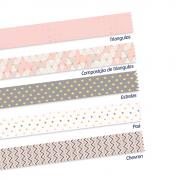 Washi Tape Geometric com 5 rolos Leonora