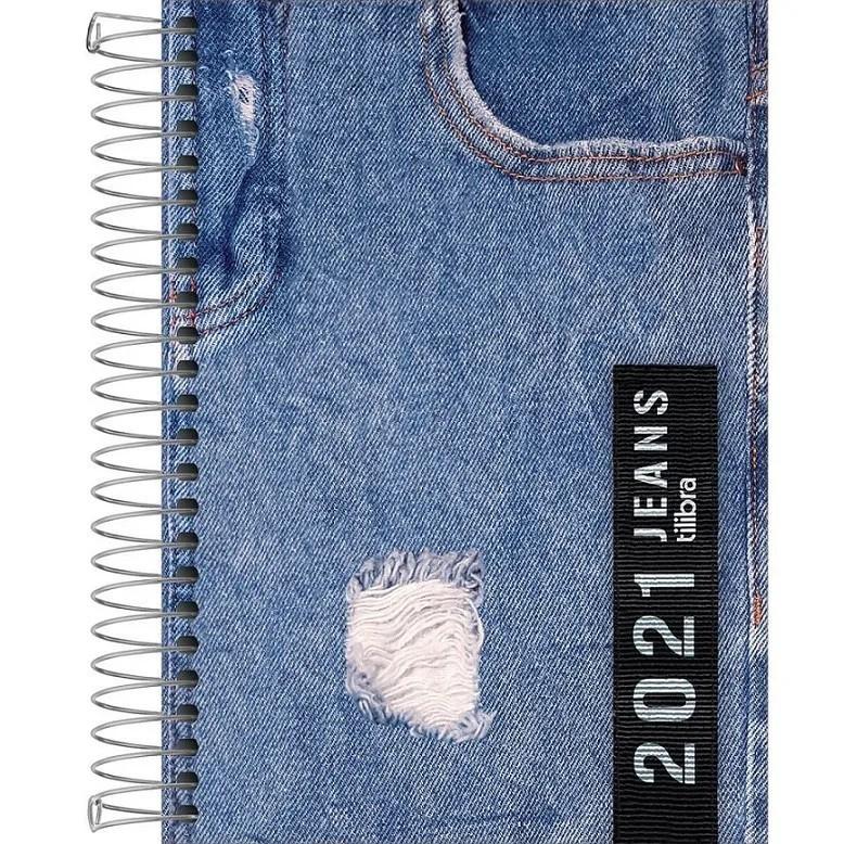 Agenda Espiral 2021 Jeans M5 Tilibra
