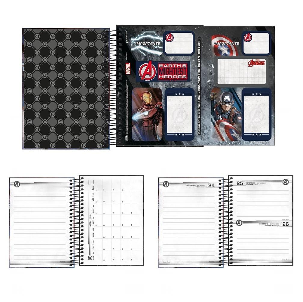 Agenda Espiral 2021 Marvel Avengers M4 Tilibra