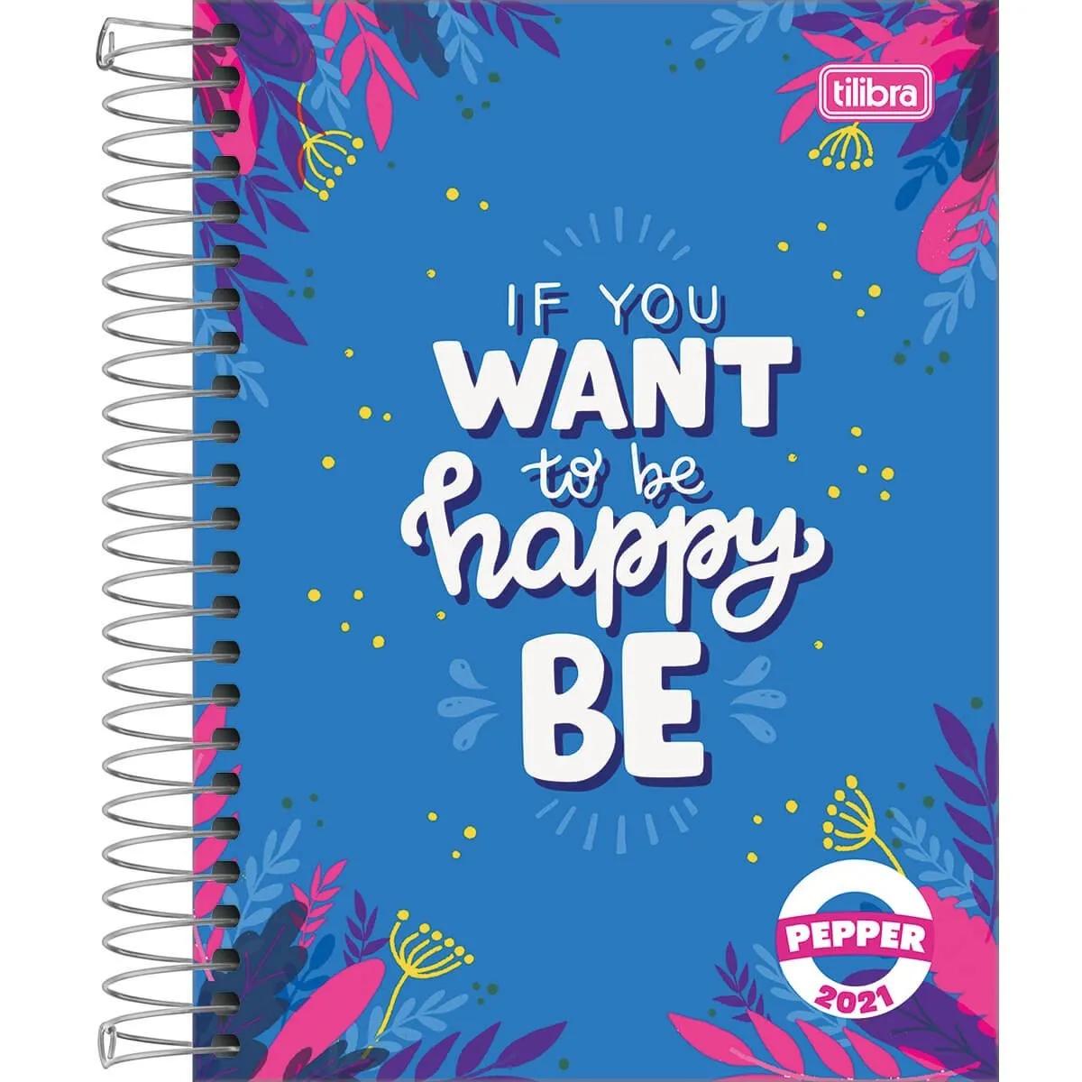 Agenda Espiral 2021 Pepper Feminina M4 Tilibra