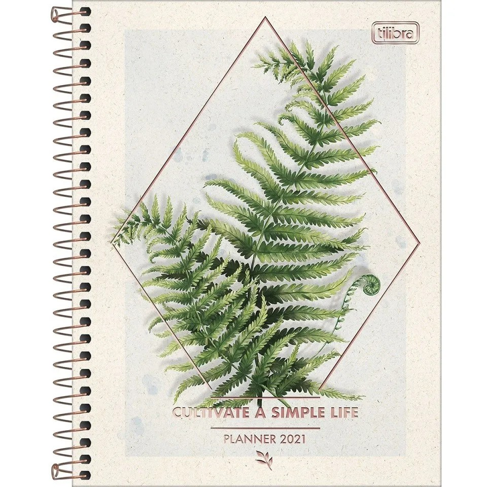 Agenda Espiral Planner 2021 Naturalis Tilibra