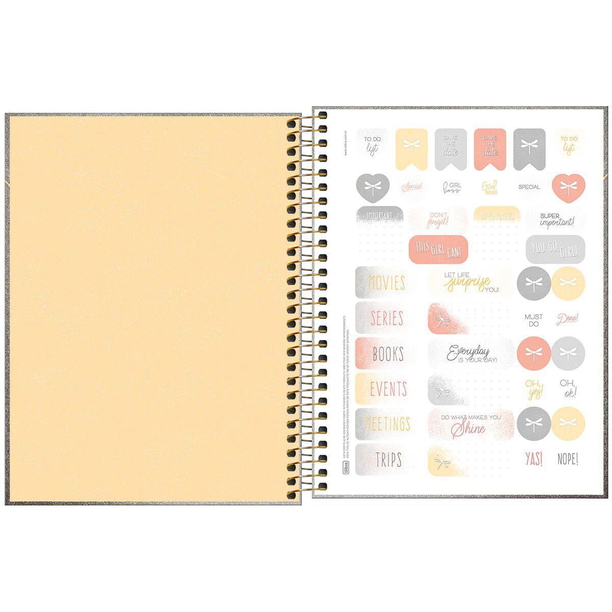 Agenda Espiral Planner Cambridge Shine  2020 Dourada - Tilibra