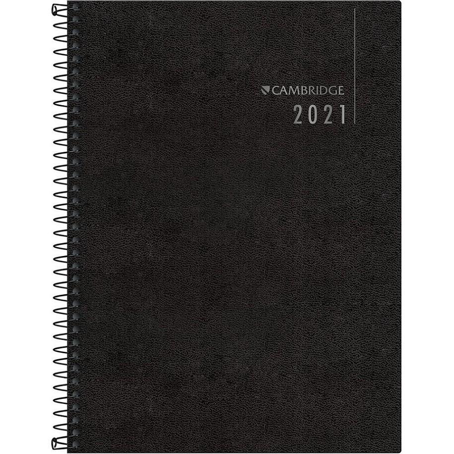 Agenda Executiva Espiral De Mesa 2021 Cambridge M9 Tilibra