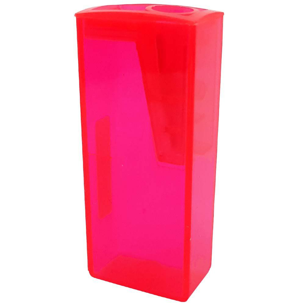 Apontador com depósito Rosa Neon Faber Castell