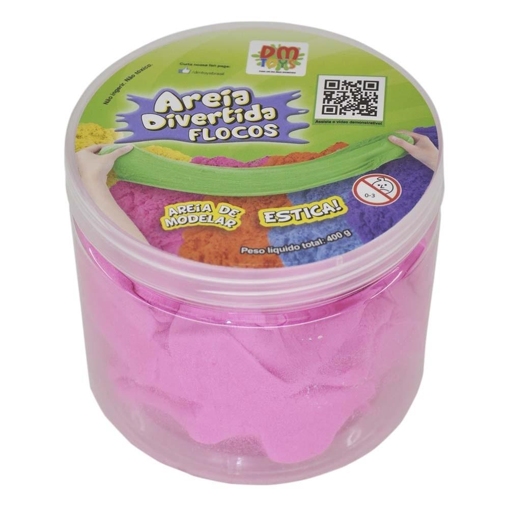 Areia Divertida  de Modelar Flocos DM Toys