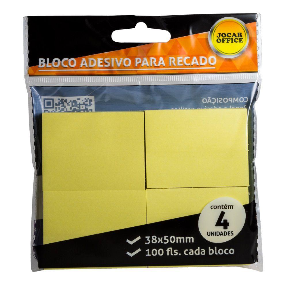 Bloco Adesivo para Recado 38x50mm Amarelo
