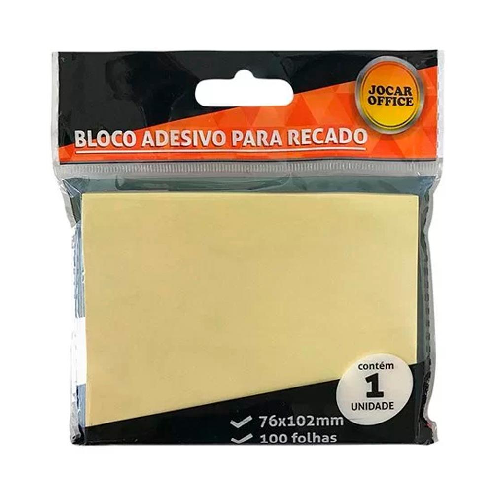 Bloco Adesivo para Recado Amarelo 76X102mm Leonora