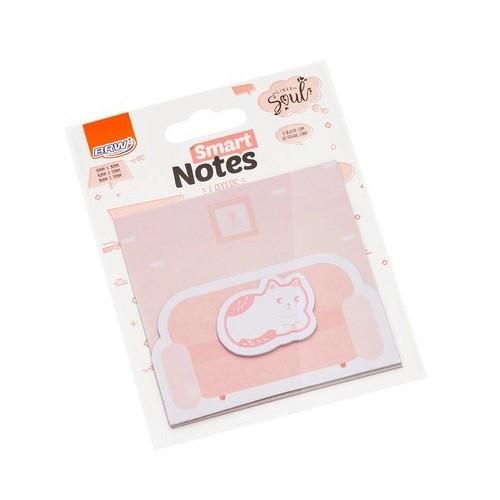 Bloco Auto-Adesivo Smart Notes Gato 3 Unid. Com 20 Folhas Cada BRW