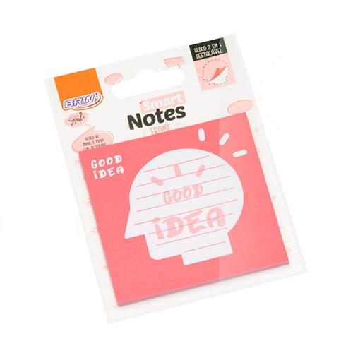 Bloco Auto-Adesivo Smart Notes Good Idea 75x75mm Com 30 Folhas BRW