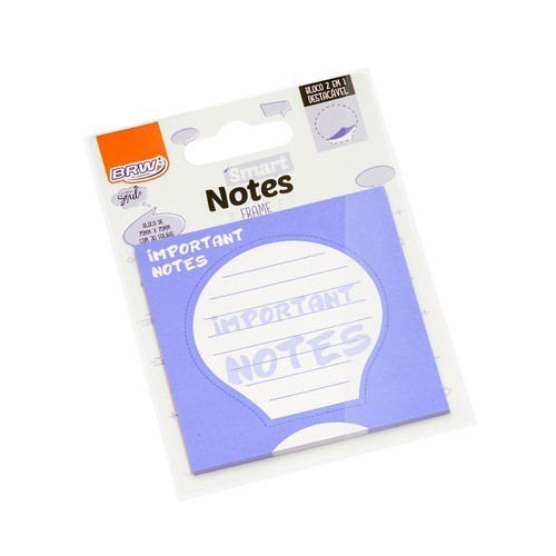 Bloco Auto-Adesivo Smart Notes Important Notes 75x75mm Com 30 Folhas BRW