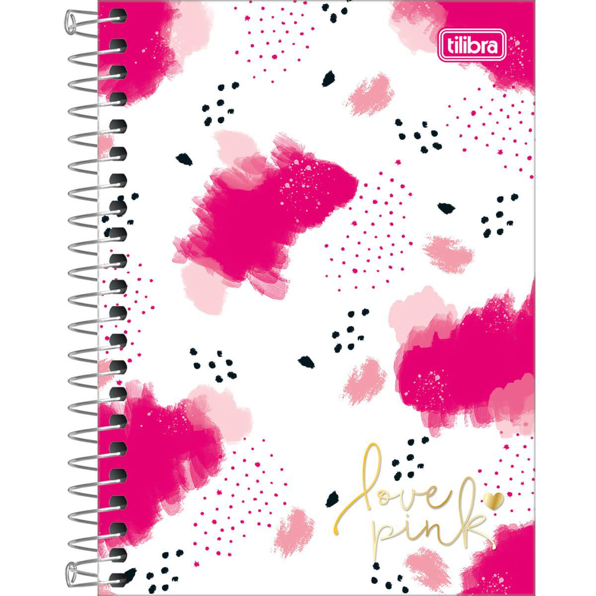 Caderneta Capa Dura 1/8 Love Pink 80 Folhas Tilibra