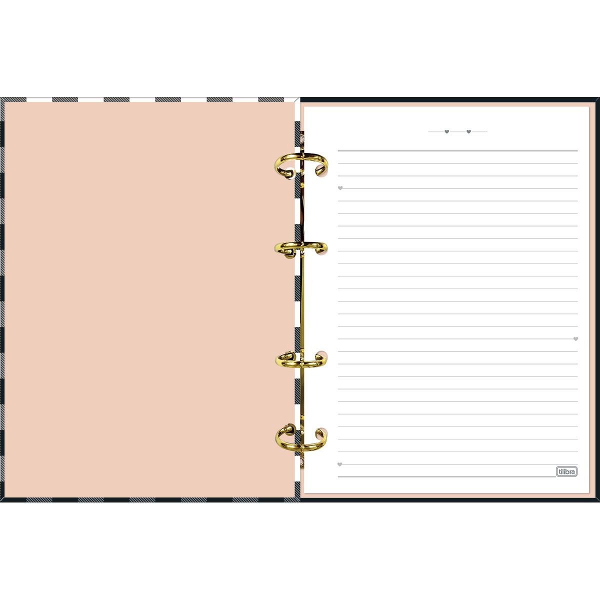 Caderno Argolado  Cartonado Colegial   West Village 160 Folhas Tilibra