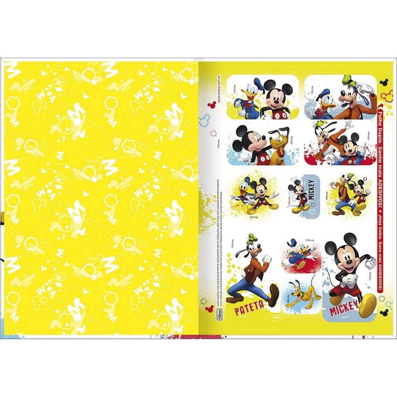 Caderno Brochura Capa Dura 1/4 Mickey Mouse 80 Fls Tilibra