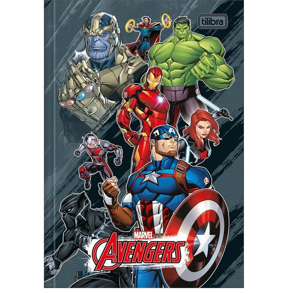 Caderno Brochura Capa Dura Avengers Marvel 80 Fls Tilibra