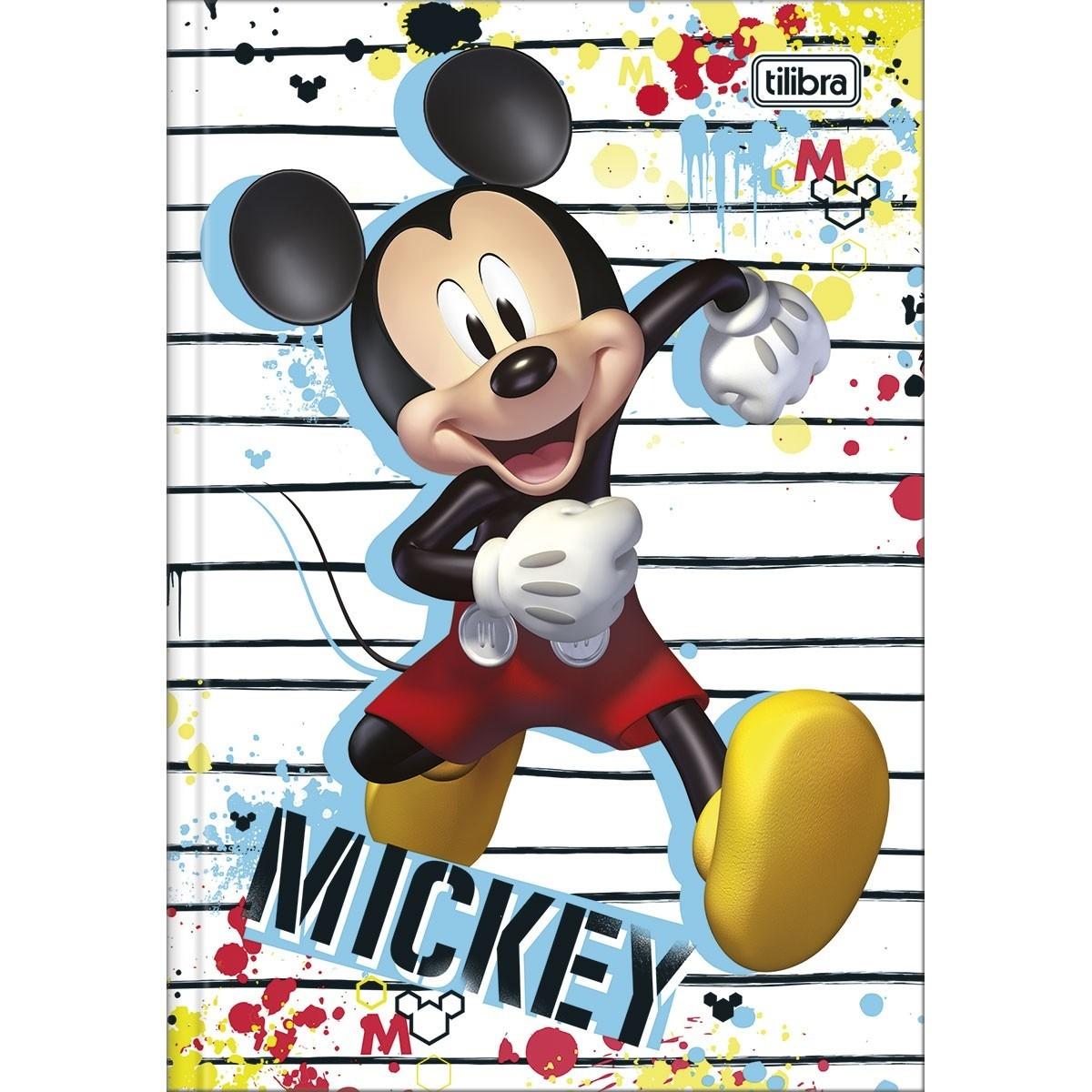 Caderno Brochura Capa Dura Mickey Mouse 80 Fls Tilibra