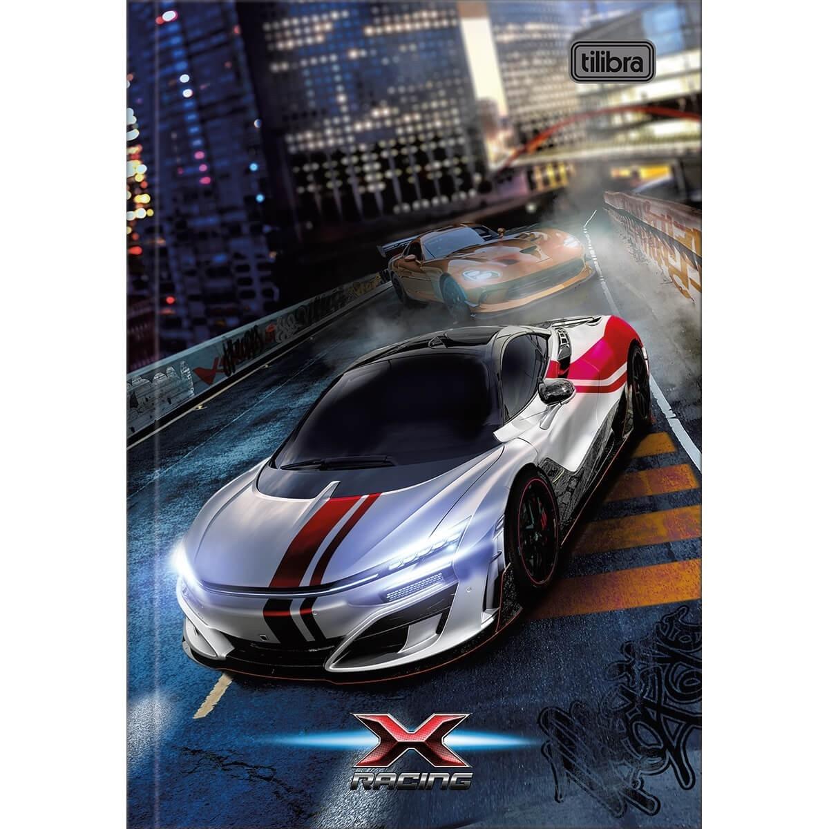 Caderno Brochura Capa Dura X-Racing 80 Fls Tilibra