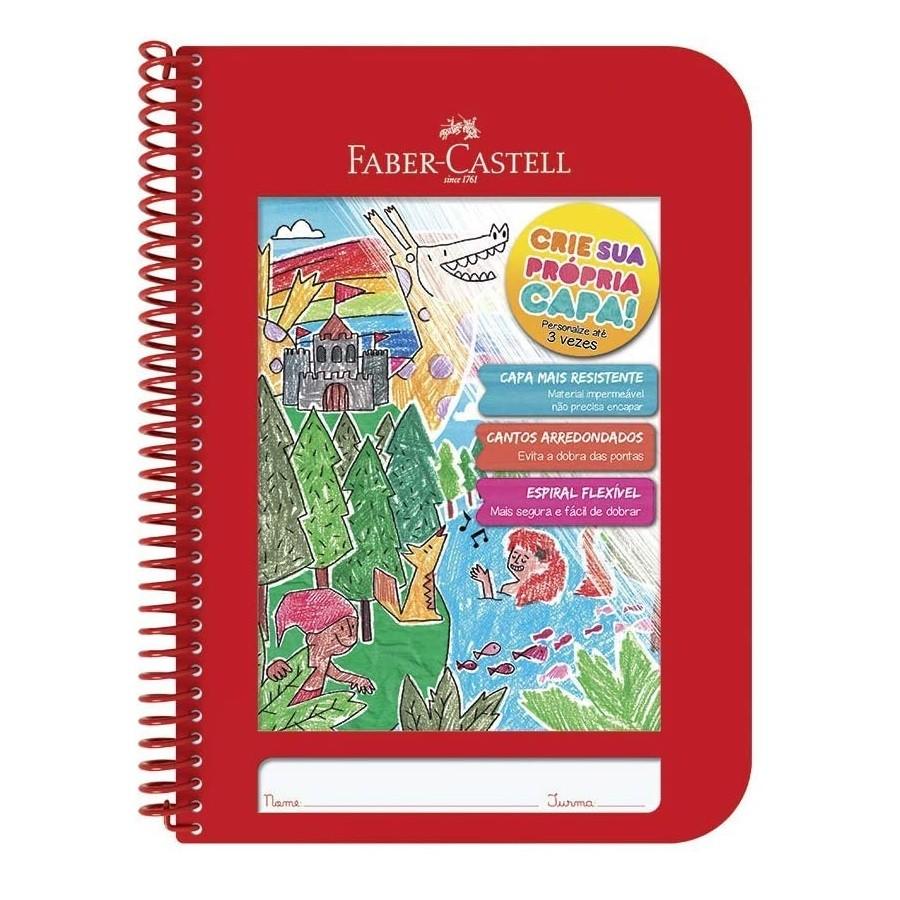 Caderno Criativo Com Capa Plástica 96 Folhas Faber Castell