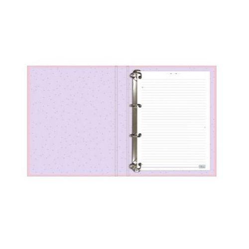 Caderno Escolar Argolado Cartonado com elástico Happy