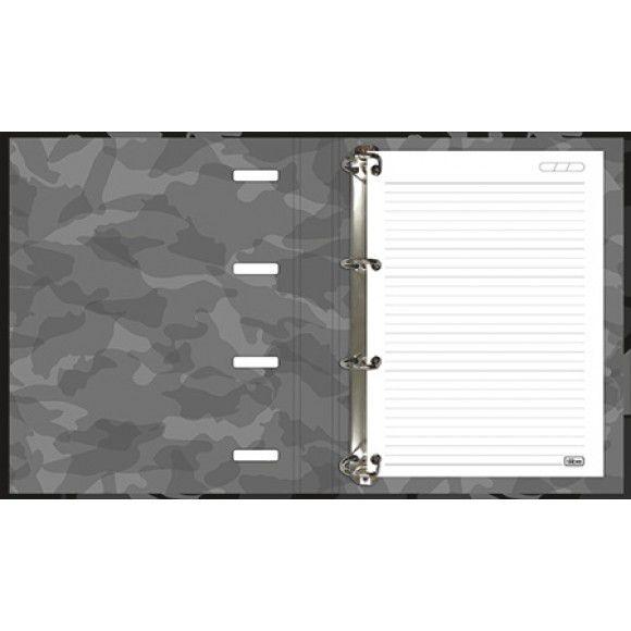 Caderno Escolar Argolado Cartonado com elástico Hide