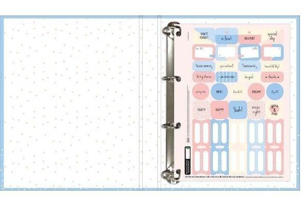 Caderno Escolar Argolado Cartonado com elástico Soho