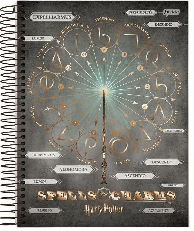 Caderno Espiral 1/4 Capa Dura Harry Pottercom 96 Fls Jandaia