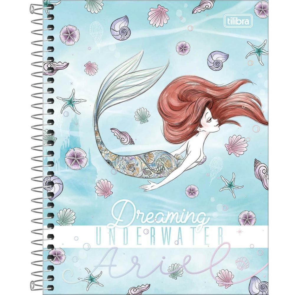 Caderno Espiral Capa Dura Colegial 1 Material Ariel 80 Folhas