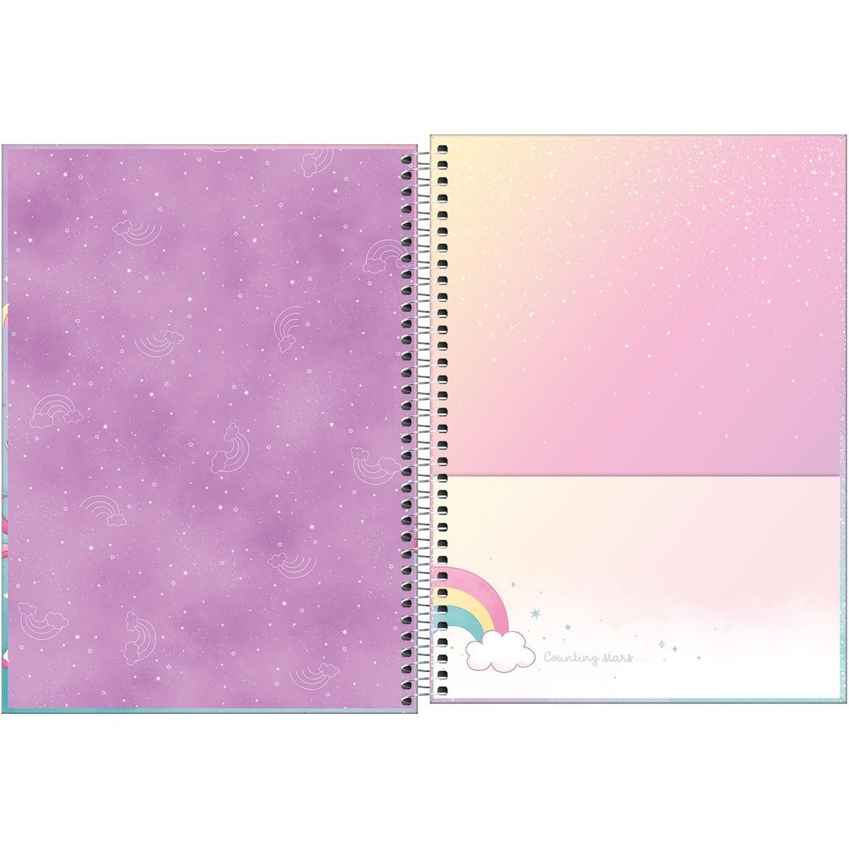Caderno Espiral Capa Dura Universitário 10 Matérias Blink 160 Folhas Tilibra