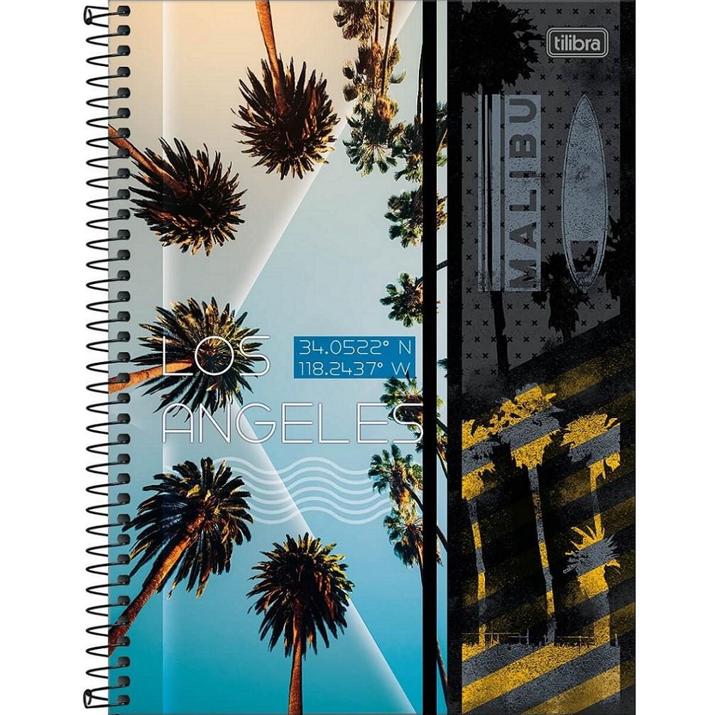 Caderno Espiral Capa Dura Universitário 10 Matérias Sunset 160 Folhas Tilibra