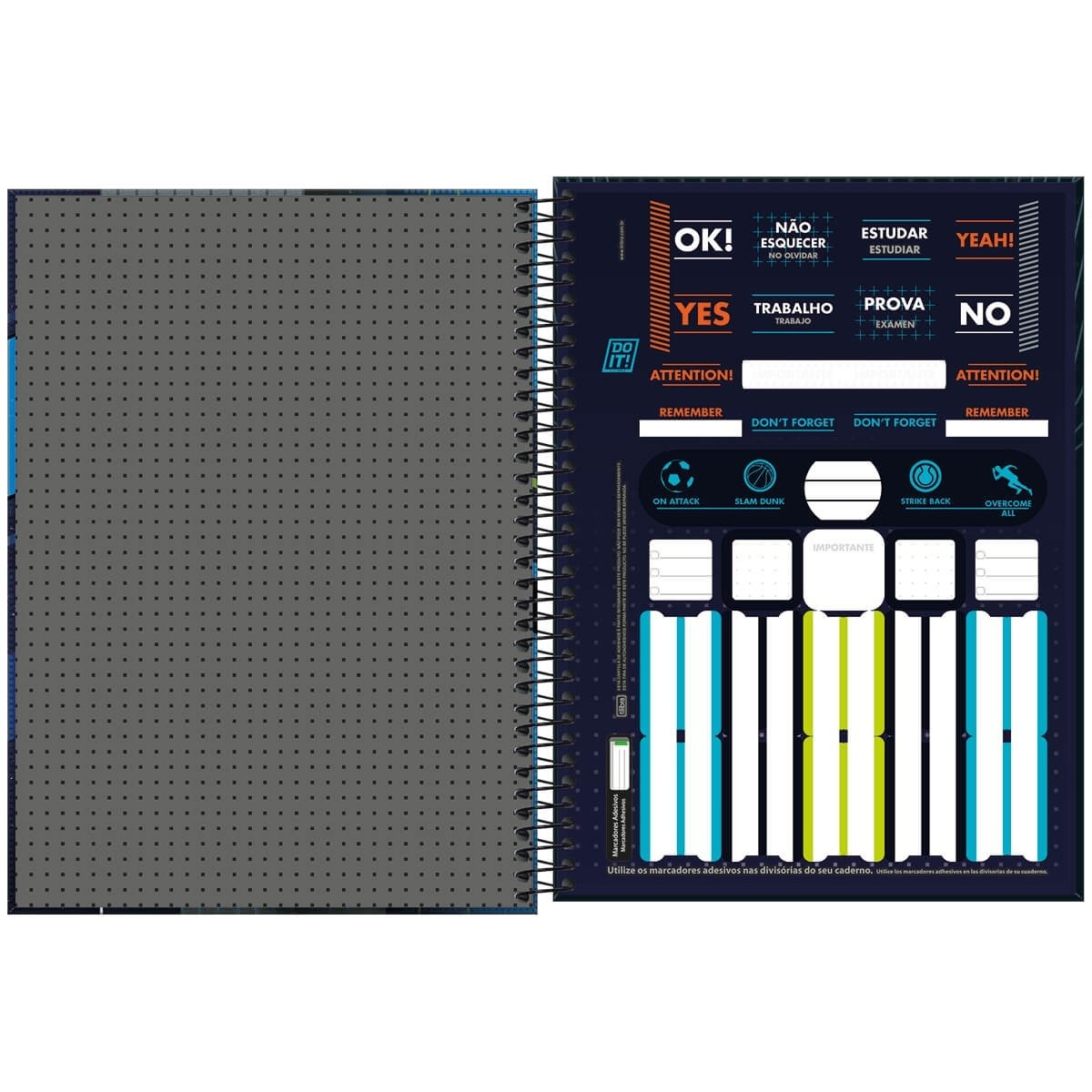 Caderno Espiral Capa Dura Universitário 1 Matéria Do It! 80 Folhas Tilibra