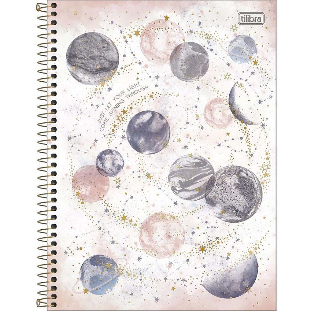Caderno Espiral Capa Dura Universitário 1 Matéria Magic 80 Folhas Tilibra