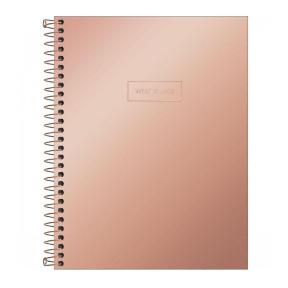 Caderno Espiral West Village Metalizado 80 Folhas Tilibra