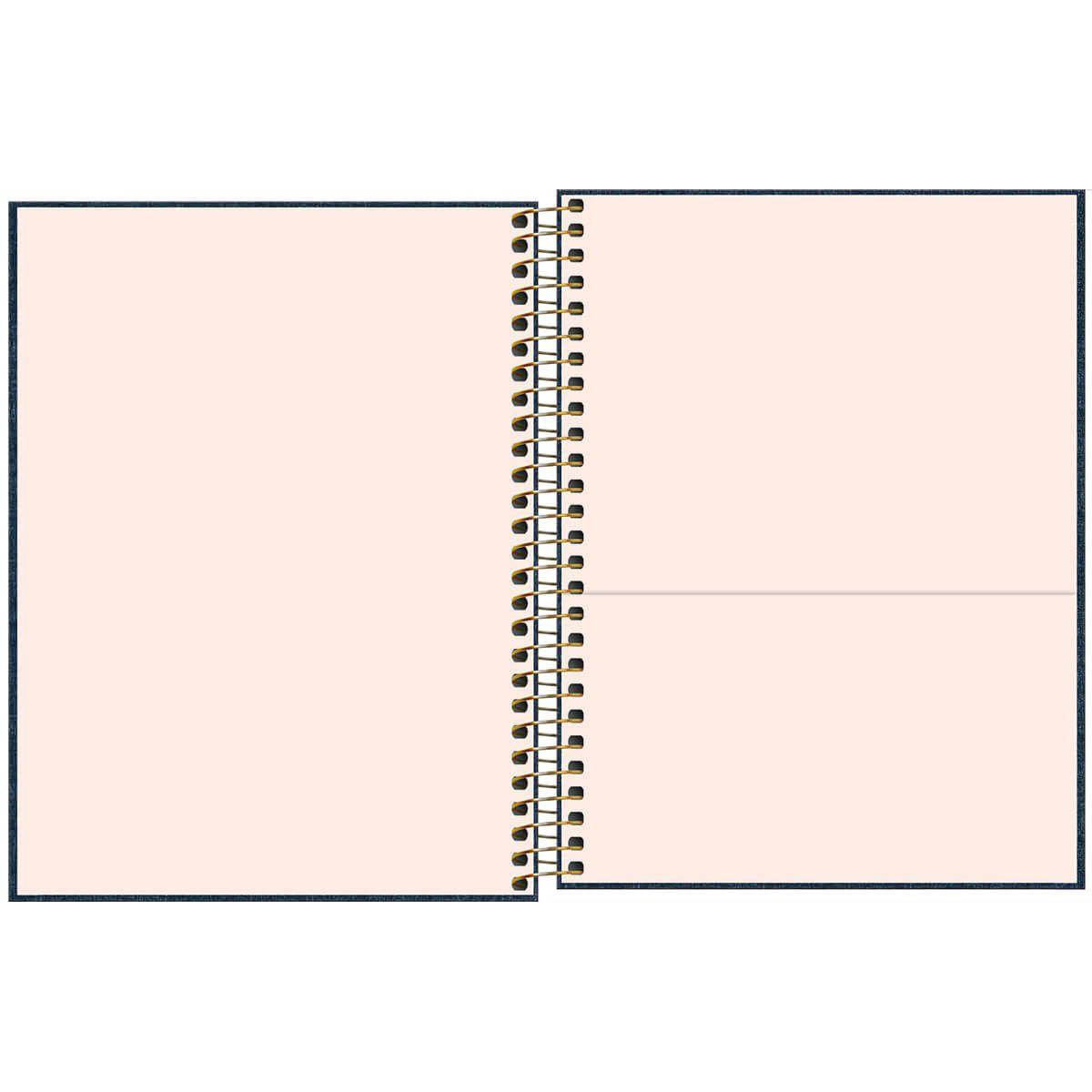 Caderno Executivo Espiral Capa Dura Colegial Cambridge Denim 80 Folhas Tilibra