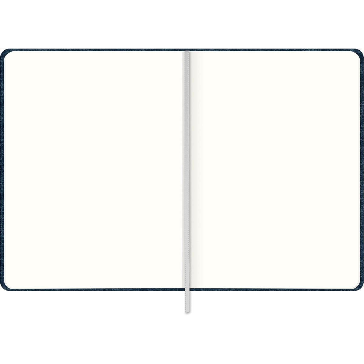 Caderno Executivo sem Pauta Costurado Capa Dura Fitto M Cambridge Denim 90 Gramas 80 Folhas Tilibra
