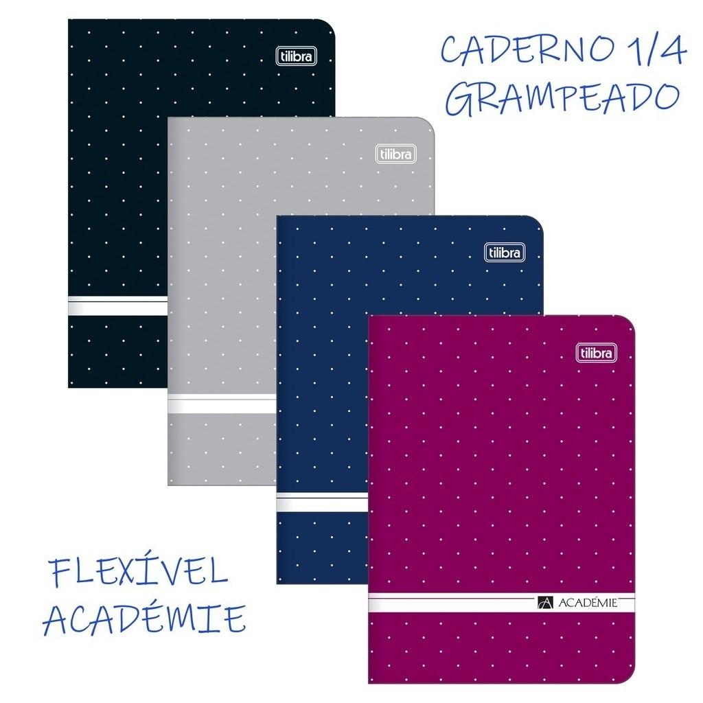 Caderno Grampeado Flexivel 1/4 Académie 32 folhas Tilibra