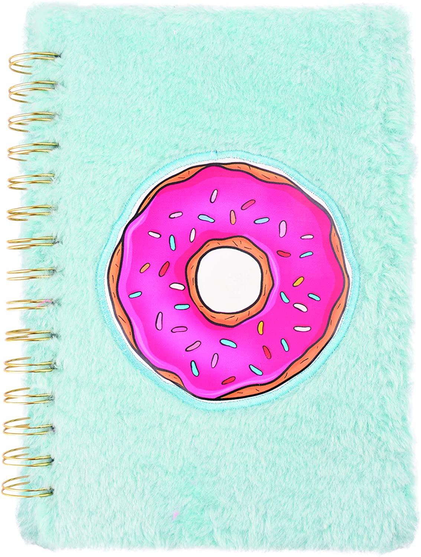 Caderno Pelúcia Bordada 1/4 - Espiral Duplo - 80fls - Fashion Donuts, Dermiwil