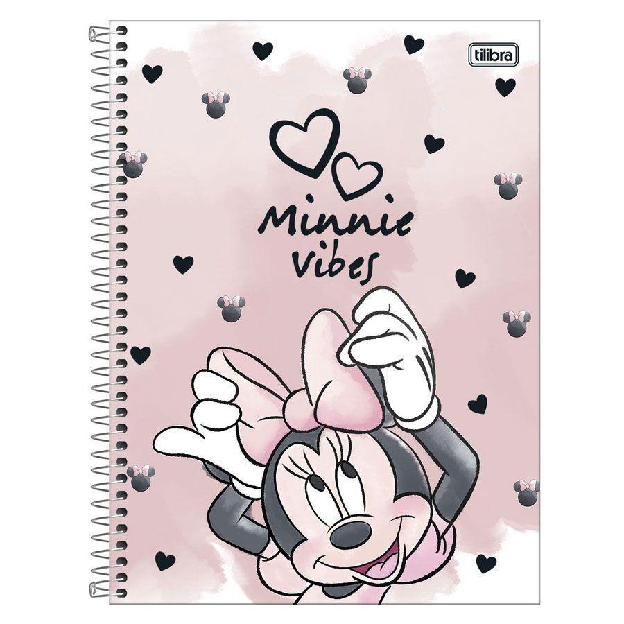 Caderno Universitário 10 Matérias Minnie Mouse - Tilibra