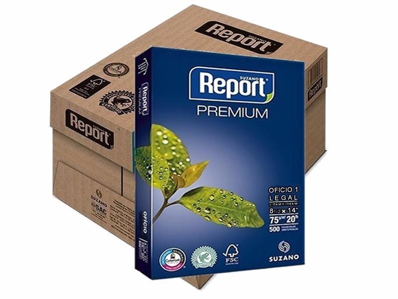 Caixa de Papel Sulfite Branca com 500 folhas com 10 unidades - Report