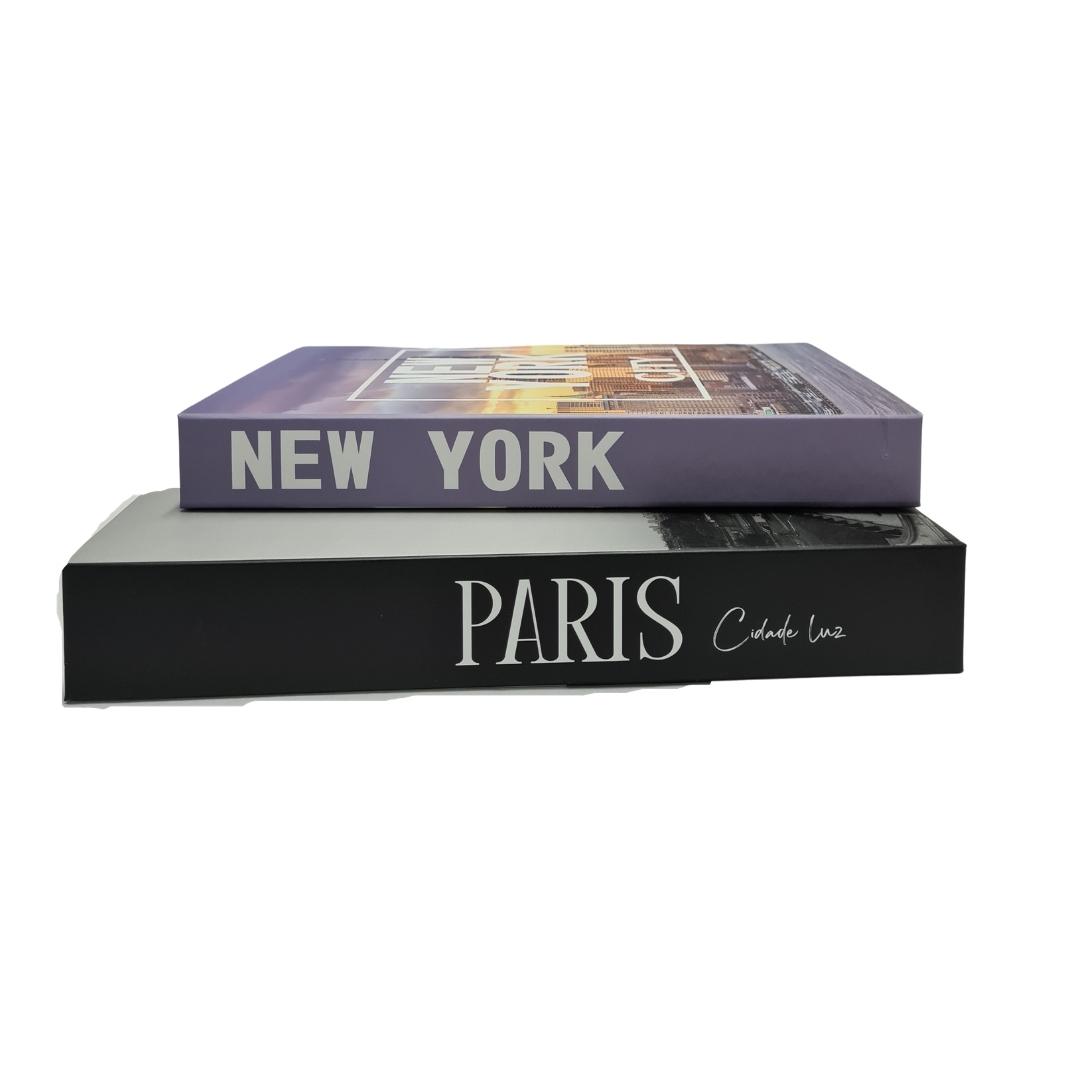 Caixa Decorativa Modelo Livro Temático Países com 2 unidades - FWB